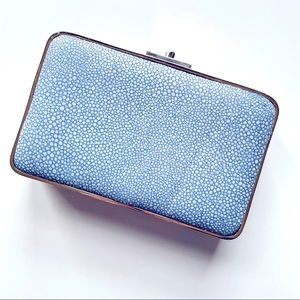 J.McLAUGLIN //Kingston clutch blue gold minaudiere